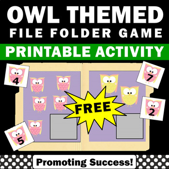 free owls file folder game