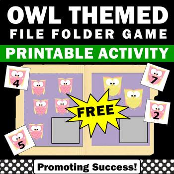 FREE Kindergarten Math Counting File Folder Game or Intera