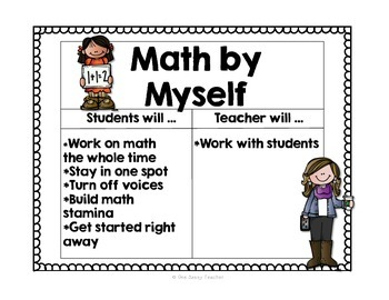 FREE Math Daily 3 Posters