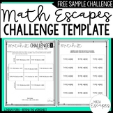 FREE Math Escapes Challenge Template