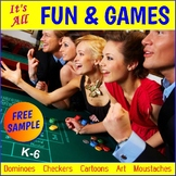 "FREE - Math Games ""Dominoes"" (K-6)"
