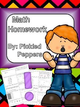 FREE Math Homework 3-5