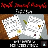 Math Journal Prompts: CUSTOMIZABLE