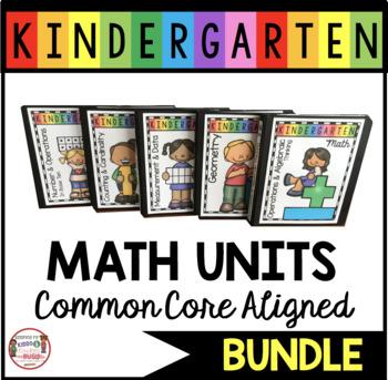 FREE Math Lesson Plan Organizers - Binder Covers - Kindergarten Math