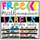 FREE Math Manipulative Labels