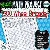 FREE! Math Mini-Project--500 Wheel Brigade