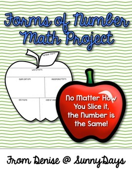 FREE Math Project and Bulletin Board (Apple Forms of Number)