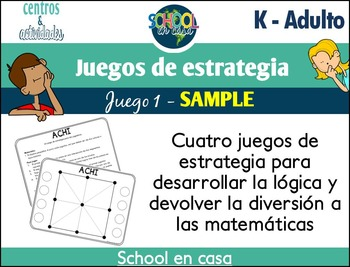 [FREE] Math Strategy Games: Set 1 SAMPLE {Spanish}