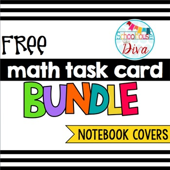 FREE Math Task Card Bundle Notebook Covers