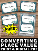 FREE Converting Place Value Task Cards 4th 5th Grade  Math
