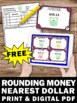 FREE Rounding Money to the Nearest Dollar Decimals Task Ca