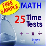FREE - Math Facts Fluency Timed Tests