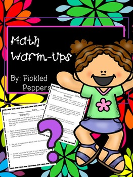 FREE Math Warm-Ups 3-5