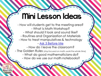 FREE Math Workshop Tips & Ideas for the Upper Grades