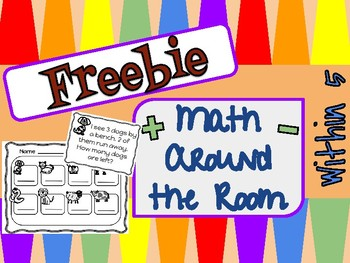 FREE Math Write the Room ~ Story Problems Within 5
