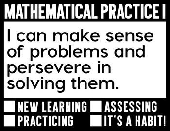 FREE Mathematical Practice Objective Display
