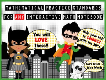 FREE Mathematical Practice Standards for Interactive Math Notebooks