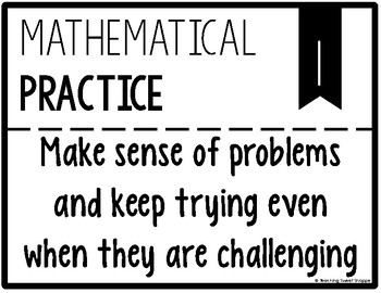FREE Mathematical Practices Posters - Ink Saving