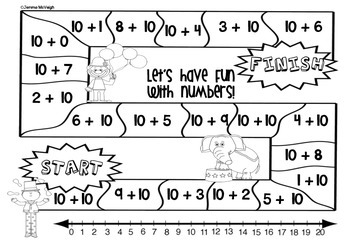 FREE Mathematics Game Boards with numbers to 20 ~ Miss Mac Attack ~