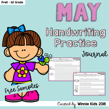 FREE May Handwriting Practice Journal