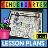 FREE May Lesson Plans for Kindergarten - Math Reading and
