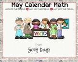 FREE May Smartboard Calendar Math