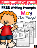 FREE May Writing Prompts for Kindergarten to Second Grade