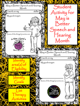 FREE May is Better Speech and Hearing Activity for Students