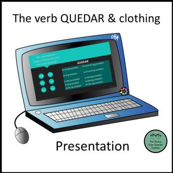FREE La Ropa PowerPoint Presentation, the verb Quedar: Me Queda Bien