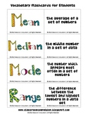 FREE Mean Median Mode Range Fun Flashcards