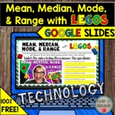 FREE Mean, Median, Mode, and Range with Legos in Google Sl