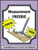 FREE Measuring Length Measurement  Worksheets 2nd Grade Math Review Activities.