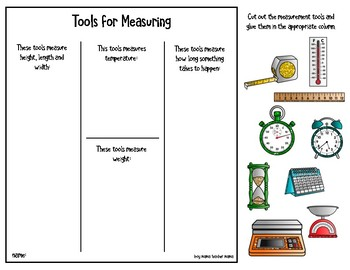 free measuring tools activity page