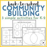Back-to-School Activities | Community Building in Kindergarten 1st or 2nd Grade