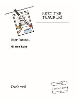 FREE Meet the Student Teacher/Teacher Letter to Parents