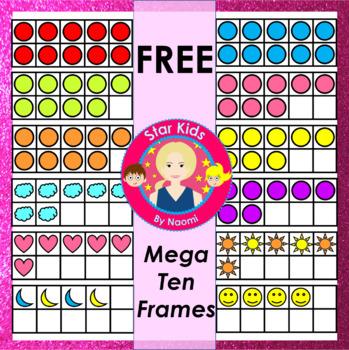 Ten Frames Clipart - FREE Mega Set {Commercial Use OK}