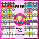Ten Frames Clipart - FREE Mega Set {Commercial Use OK}