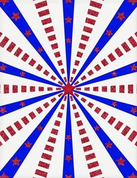 Patriotic Papers Clip Art ~ CU OK ~ 8.5 x 11 ~ Red, White, & Blue