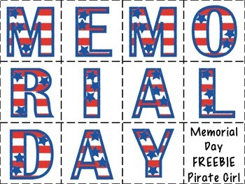 FREE Memorial Day Word Building