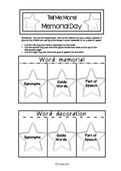 Memorial Day Fluency Task Cards Reading Comprehension