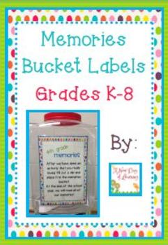 FREE Memory Bucket Labels and Slips