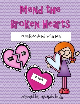 FREE Mend the Broken Hearts: Contractions with Not
