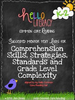 FREE Mentor Text Lists for Common Core Reading Literature Standards {K-2}