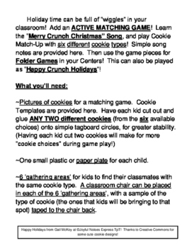 """""""Christmas Cookie Matching Game"""" - Active Group Game, Song and Folder Games"""