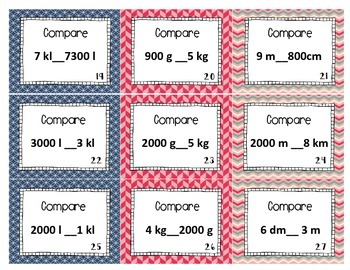 FREE Metric Units Comparing Scoot or Task Cards