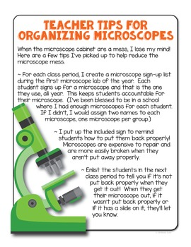 FREE Microscope Proper Use Poster