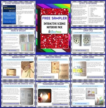 FREE Interactive Science Notebook Sampler