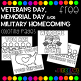 FREE Military Coloring Pages (Veteran's Day, Memorial Day & Homecoming)