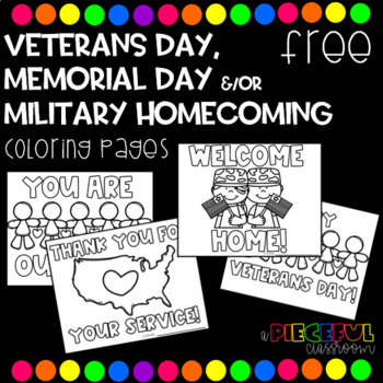 Thank You Military Coloring Pages | Veterans day coloring page ... | 350x350