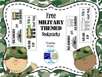 FREE Military Themed Bookmarks